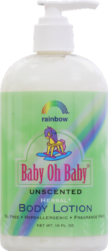 Rainbow Baby Oh Baby Unscented Body Lotion Perspective: front