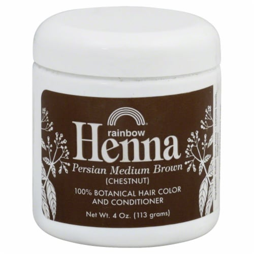 Rainbow Henna Persian Medium Brown 100% Botanical Hair Color & Conditioner Perspective: front