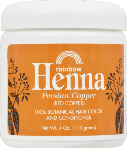 Rainbow Henna Persian Copper 100% Botanical Hair Color & Conditioner Perspective: front