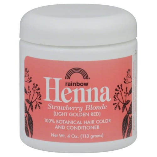 Rainbow Henna Strawberry Blonde 100% Botanical Hair Color & Conditioner Perspective: front