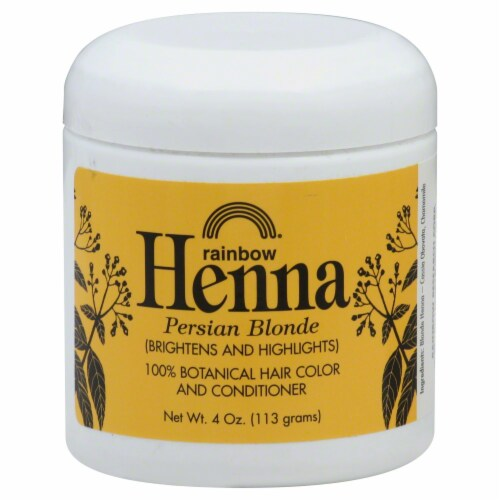 Rainbow Henna Persian Blonde 100% Botanical Hair Color & Conditioner Perspective: front