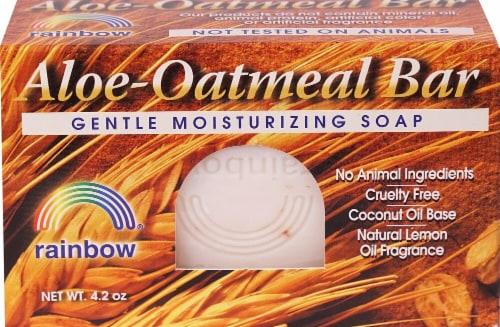Rainbow Aloe-Oatmeal Bar Soap Perspective: front