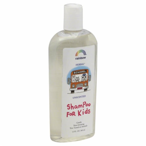 Rainbow Herbal Unscented Shampoo for Kids Perspective: front