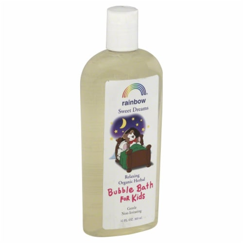 Rainbow Sweet Dreams Relaxing Organic Herbal Bubble Bath for Kids Perspective: front