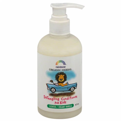 Rainbow Organic Herbal Creamy Vanilla DeTangling Conditioner for Kids Perspective: front