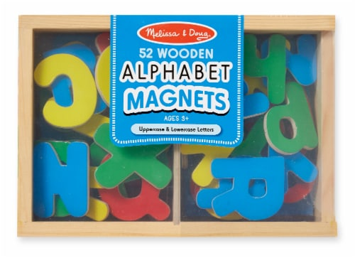 Melissa & Doug® Wooden Alphabet Letter Magnets 52 Pieces Perspective: front