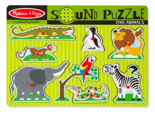 Melissa & Doug® Zoo Animals Sound Puzzle Perspective: front
