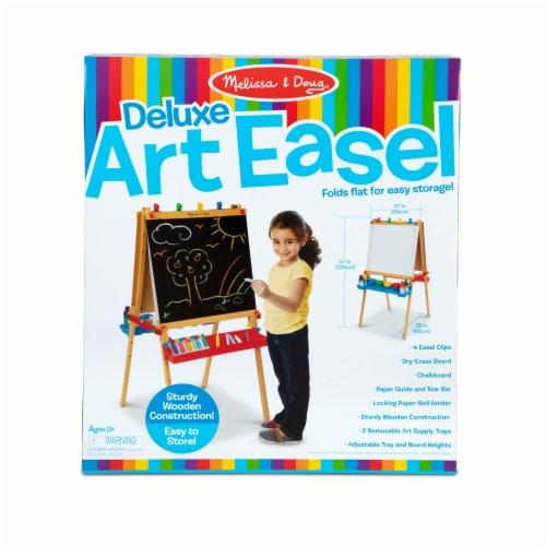 Melissa & Doug® Deluxe Wooden Standing Art Easel Perspective: front