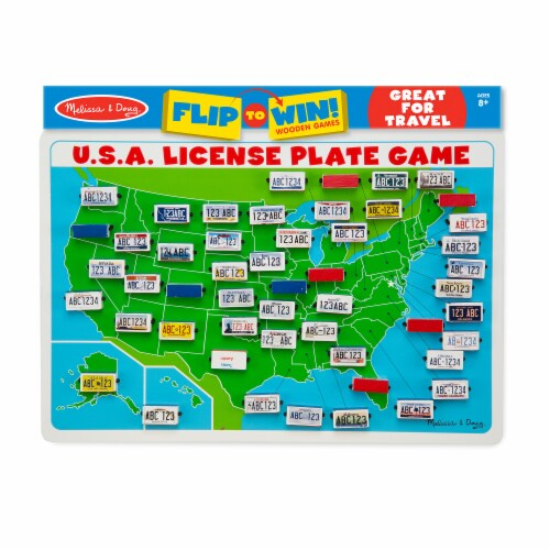 Melissa & Doug® USA License Plate Game Perspective: front