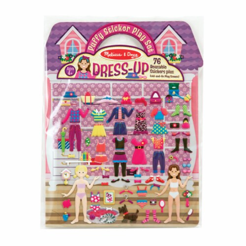Melissa & Doug® Dress-Up Puffy Sticker Play Set Perspective: front