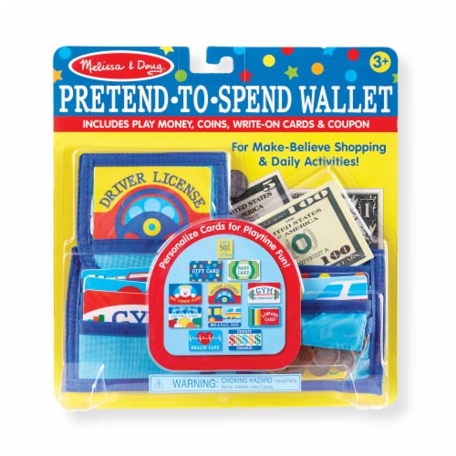 Melissa & Doug Pretend-to-Spend Wallet Child's Toy Perspective: front