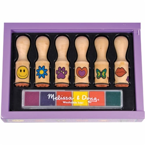 Melissa & Doug® Happy Handle Stamp Set Perspective: front