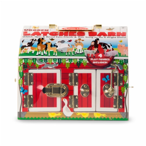 Melissa and Doug® Latches Barn Playset Perspective: front