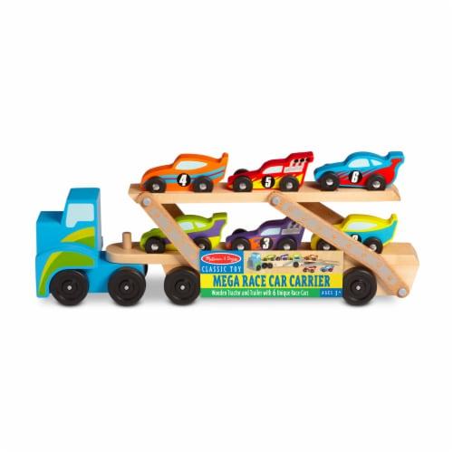 Melissa & Doug® Mega Race-Car Carrier Perspective: front