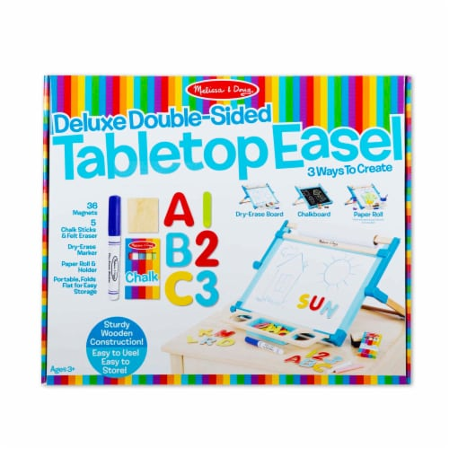 Melissa & Doug® Double-Sided Magnetic Tabletop Easel Perspective: front