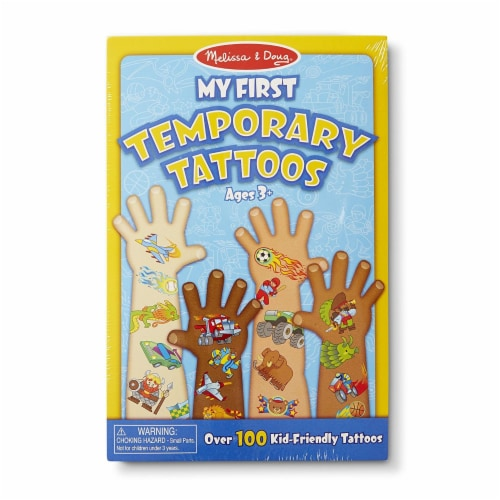 Melissa & Doug® My First Temporary Tattoos - Blue Perspective: front