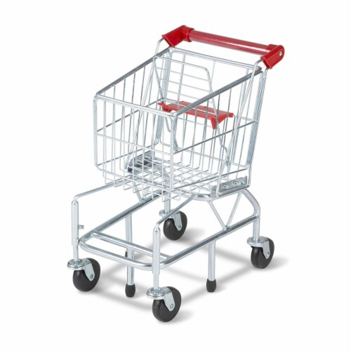 Melissa and Doug® Metal Shopping Cart Toy Perspective: front