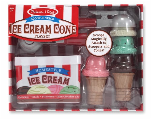 Melissa & Doug® Scoop & Stack Ice Cream Cone Playset Perspective: front