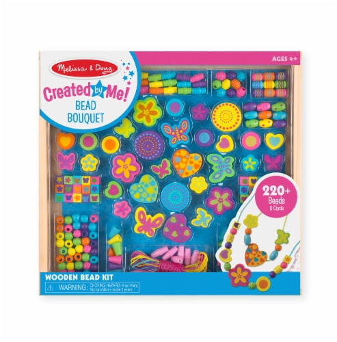 Melissa & Doug® Bead Bouquet Deluxe Wooden Bead Set Perspective: front