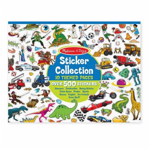 Melissa & Doug® Blue Sticker Collection Perspective: front