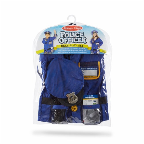 Melissa and Doug® Police Officer Role Play Costume Set Perspective: front