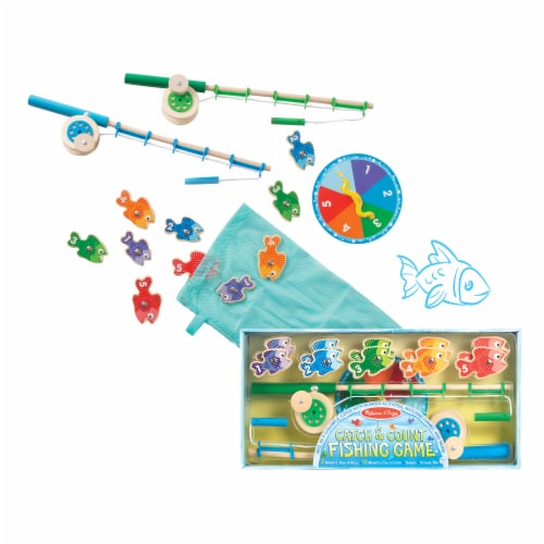 Melissa & Doug® Catch and Count Fishing Game Perspective: front