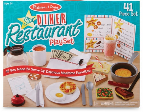 Melissa and Doug® Star Diner Restaurant Play Set Perspective: front