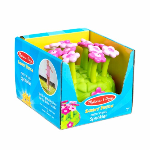 Melissa & Doug® Sunny Patch Pretty Petals Sprinkler - Green/Pink Perspective: front