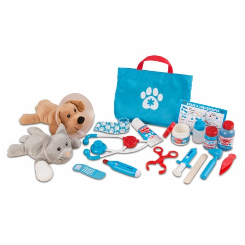 Melissa & Doug® Examine & Treat Pet Vet Play Set Perspective: front
