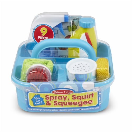 Melissa and Doug® Let's Play House! Spray Squirt and Squeegee Play Set Perspective: front