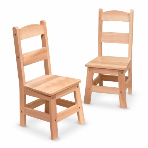 Melissa & Doug Wooden Chairs - Natural Perspective: front
