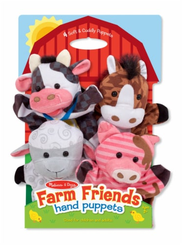 Melissa & Doug® Farm Friends Hand Puppets Perspective: front