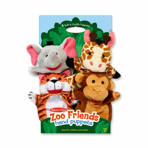 Melissa & Doug® Zoo Friends Hand Puppets Perspective: front