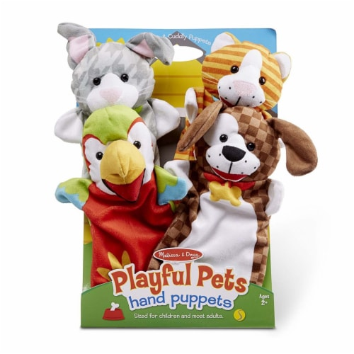 Melissa & Doug® Playful Pets Hand Puppets Perspective: front