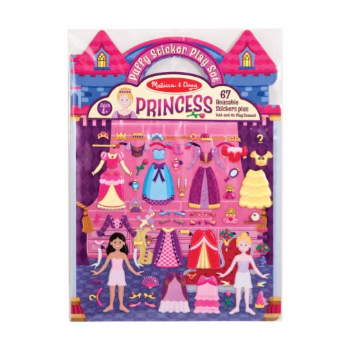 Melissa & Doug® Princess Puffy Sticket Play Set Perspective: front