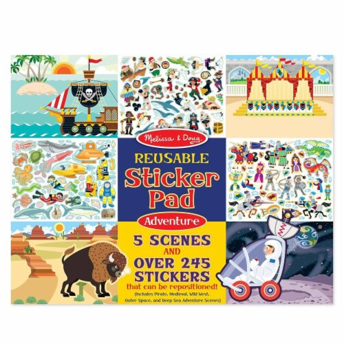 Melissa And Doug Adventure Reusable Sticker Pad Perspective: front