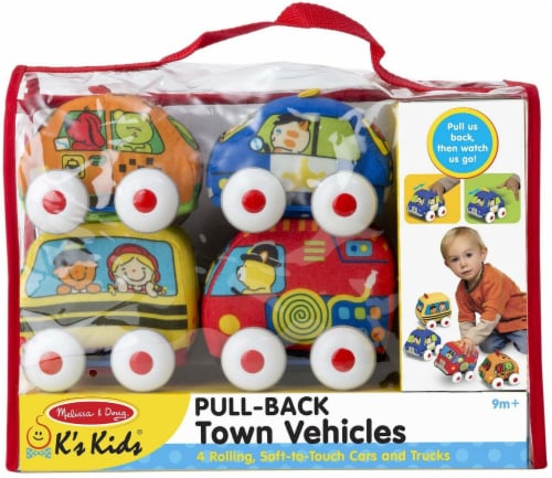 Melissa & Doug® Pull-Back Town Vehicles Perspective: front