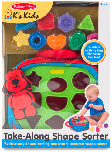 Melissa and Doug® Take-Along Shape Sorter Baby and Toddler Toy Set Perspective: front