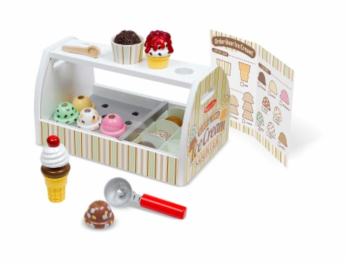 Melissa and Doug® Scoop and Serve Ice Cream Counter Perspective: front