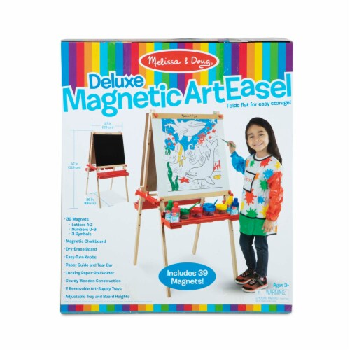 Melissa & Doug® Deluxe Magnetic Art Easel Perspective: front