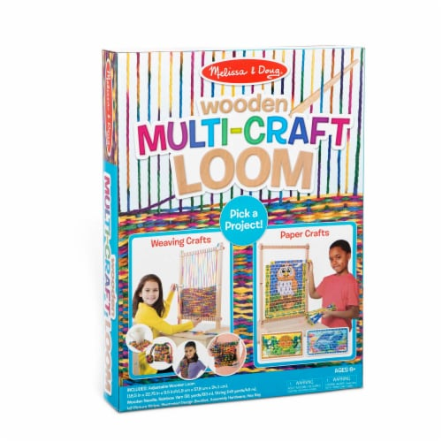 Melissa & Doug® Wooden Multi-Craft Loom Perspective: front