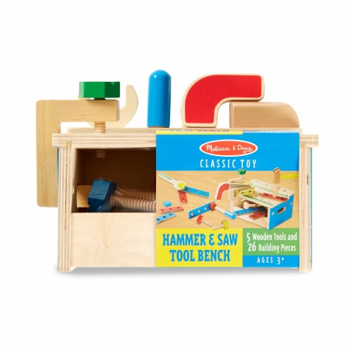 Melissa & Doug® Hammer & Saw Tool Bench Perspective: front