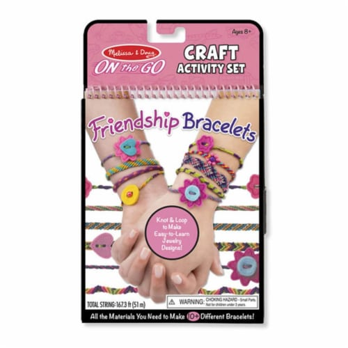 Melissa And Doug On The Go Friendship Bracelets Craft Activity Set Perspective: front
