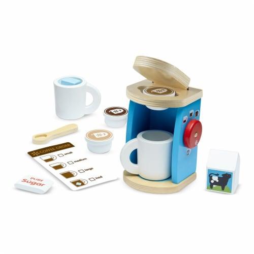 Melissa & Doug® Wooden Brew & Serve Coffee Set Perspective: front