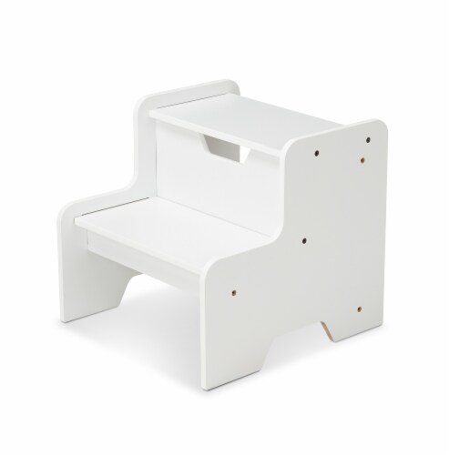 Melissa & Doug White Step Stool Perspective: front