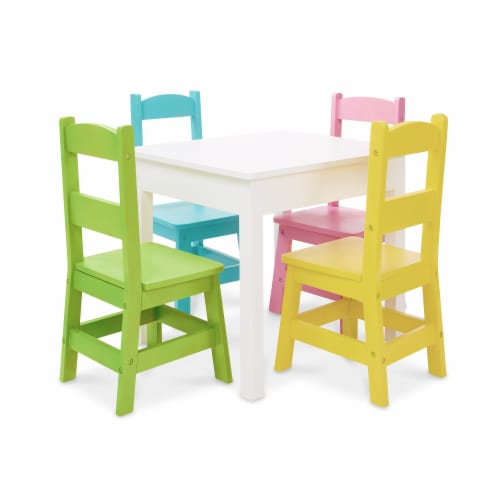 Melissa & Doug® Table with Pastel Chairs Perspective: front