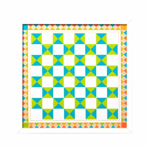 Melissa & Doug® Wooden Chess & Pachisi Game Board Perspective: front