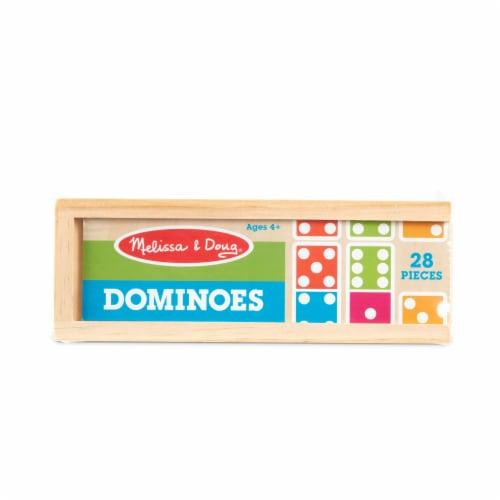 Melissa & Doug® Dominoes & Wooden Box Perspective: front