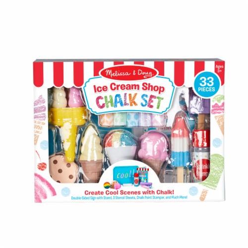 Melissa & Doug® Ice Cream Shop Chalk Set Perspective: front