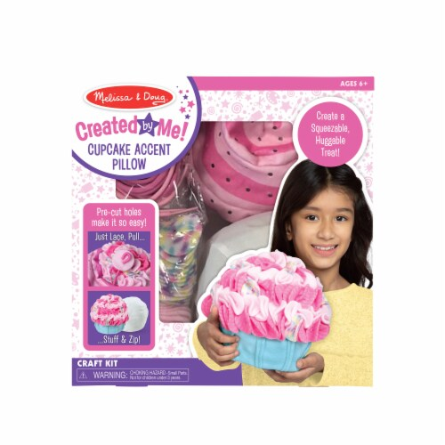 Melissa & Doug® Created by Me! Cupcake Pillow Kit Perspective: front